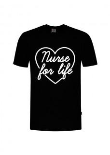 T-Shirt Nurse For Life Schwarz