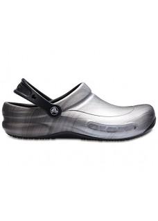 OUTLET : size 39/40 Crocs Bistro Metallic Silver