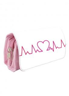 Instrumententasche Herzschlag Rosa