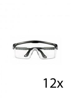 Hospitrix Schutzbrille Schwarz 12 Stk.