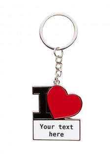 Schlüsselanhänger I Love Nursing mit Namensaufdruck