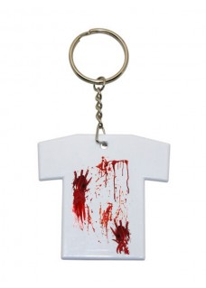 Schlüsselanhänger T-Shirt Blutflecken