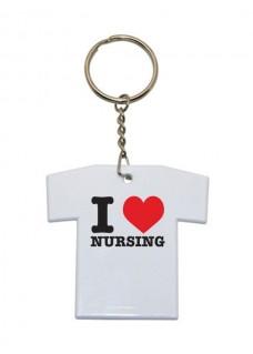 Schlüsselanhänger T-Shirt I Love Nursing