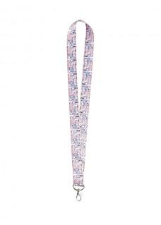 Sicherheits-Schlüsselband Symbole Pastel Rosa