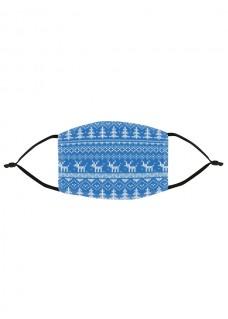 Alltagmaske Weihnachtssymbole Blau