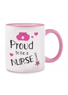 Tasse Proud to be a Nurse 2 Rosa