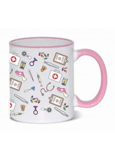 Tasse Tasse Medizinische Symbole Rosa