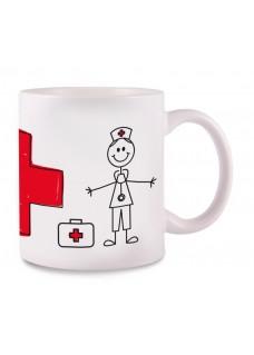 Tasse Stick Nurse Cross