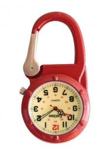 Karabiner Uhr NOC472 Luminös Rot