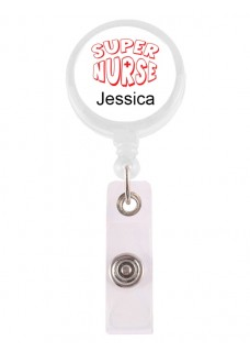 Ausweis-Jojo Super Nurse 2 mit Namensaufdruck