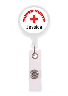 Ausweis-Jojo Super Nurse 1 mit Namensaufdruck