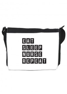 Schultertasche Gross Eat Sleep Nurse Repeat