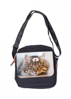 Schultertasche Katze