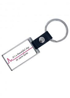 Luxuriöser Schlüsselanhänger Beautiful Day mit Namensaufdruck