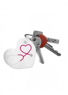 Schlüsselanhänger Herz Stethoskop mit Namensaufdruck