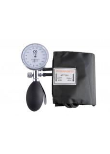 Blutdruckmessgerät Einhand-Bedienung mit Tragetasche Schwarz Silber