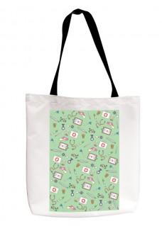 Einkaufstasche Medizinische Symbole Grün