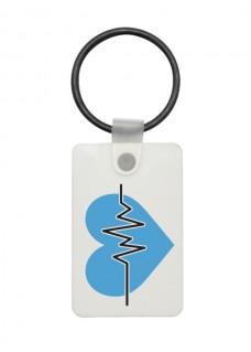 USB Schlüsselhänger EKG Blau