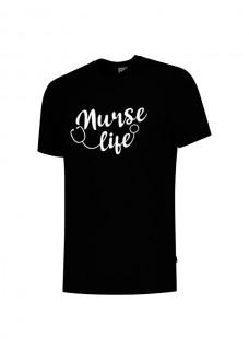 T-Shirt Nurse Life Schwarz
