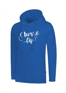Hoodie Nurse Life Blau