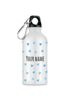 Trinkflasche Blaue Herzen