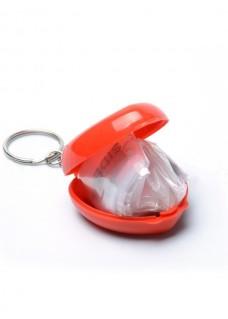Beatmungsmaske Schlüsselanhänger Herz Rot
