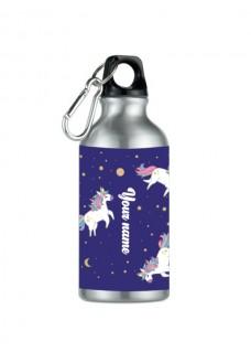 Sport-Trinkflasche Einhorn Silber