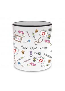 Tasse Tasse Medizinische Symbole Schwarz
