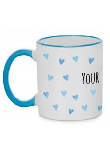 Tasse Blaue Herzen Blau