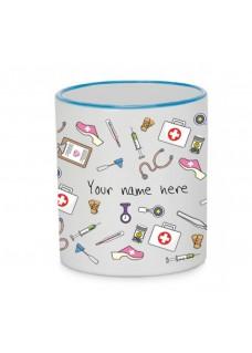 Tasse Tasse Medizinische Symbole Blauw