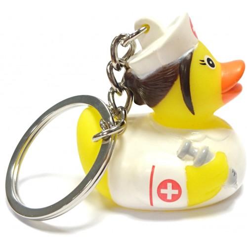 Krankenschwester Gummi-Ente Schlüsselanhänger