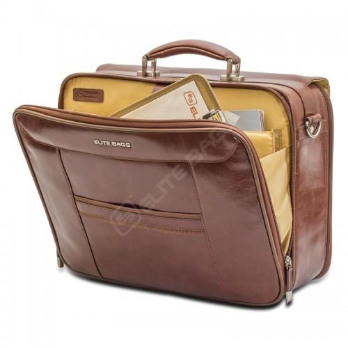 Elite Bags DOCTOR'S Braunes Leder