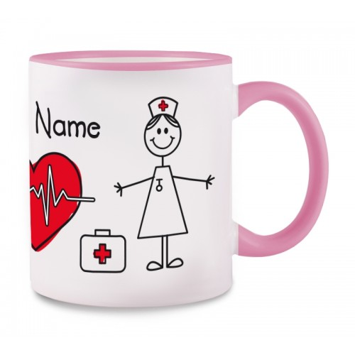 Tasse Stick Nurse Rosa