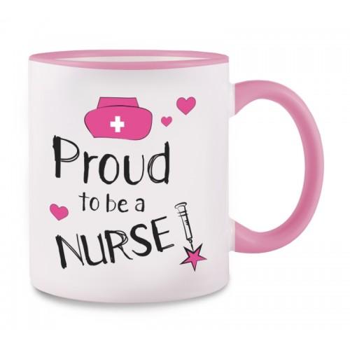 Tasse Proud to be a Nurse 2 Rosa