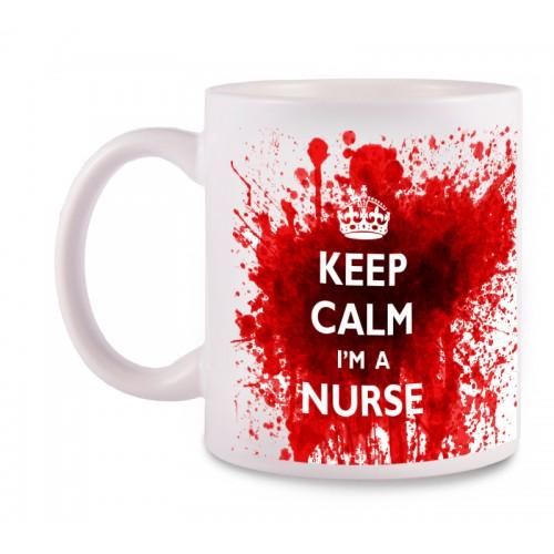 Tasse Nurse mit Namensaufdruck