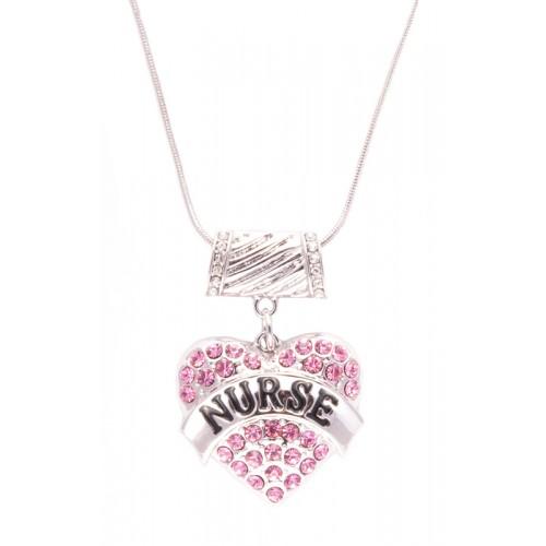 Halskette Rosa Herz