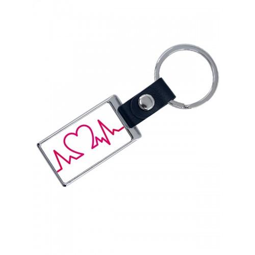 Luxuriöser Schlüsselanhänger Heartbeat mit Namensaufdruck