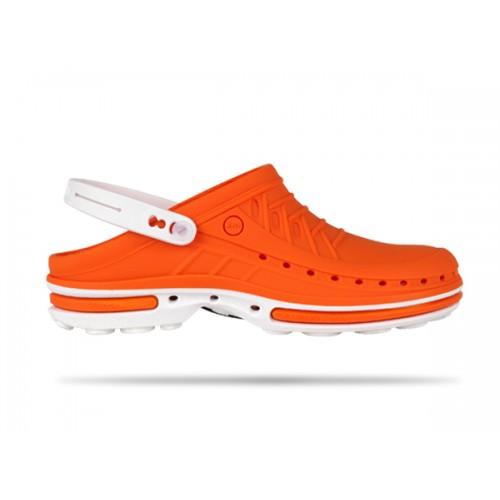 Wock Clog 05 Weiss / Orange